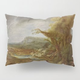 Stolen Art - Landscape with an Obelisk by Govert Flinck Pillow Sham
