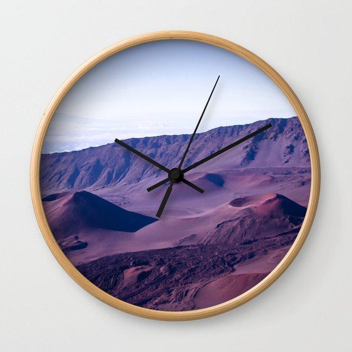 Haleakalā Sunrise On The Summit Maui Hawaii Kalahaku Wall Clock