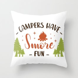 Camping Clip Art Campers Have Smore Fun Smores Gift Camper Gift Camping Christmas Gift Love to Camp Throw Pillow