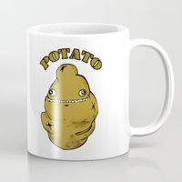 potato Mugs featuring POTATO  by Michelena