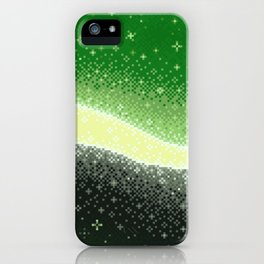Aromantic Pride Flag Galaxy iPhone Case
