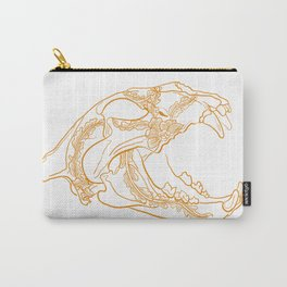Lion skull with floral ornament Carry-All Pouch