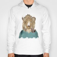 jeep Hoodies featuring jeep the lion by bri.buckley
