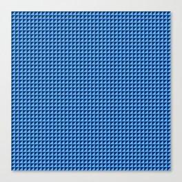 Blue Triangulate Canvas Print