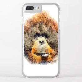 Orangutan Clear iPhone Case