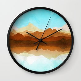 Western Sky Reflections In Watercolor Wall Clock