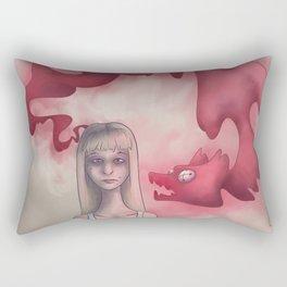 Anxious Thoughts Rectangular Pillow