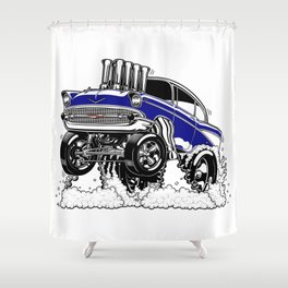 57 Gasser REV-3 BLUE Shower Curtain