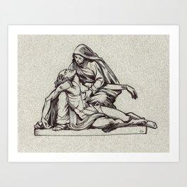 Pieta, St-Étienne, Beauvais, France. Art Print