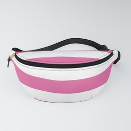 Icing Pink Cupcake and White Wide Cabana Stripes Fanny Pack