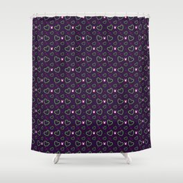 Pixel Heart Love Shower Curtain