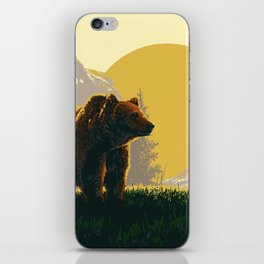 Early Morning Grizzly Bear iPhone Skin