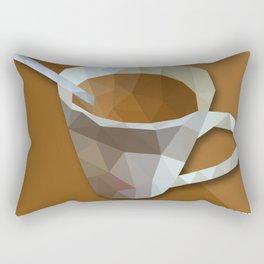 Coffee Is Life. Coffee Is Love Geometry Polygon Food and Drinks Rectangular Pillow