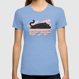 Cute lazy laying black cat T-shirt