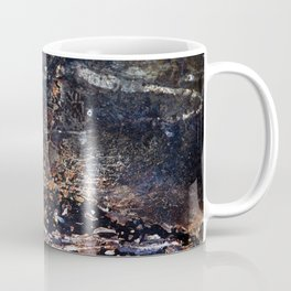 Abstract Forest Floor with Snake on Metal Coffee Mug