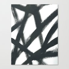 Black Linear Abstract Canvas Print