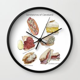 Sandwiches of Cleveland Wall Clock