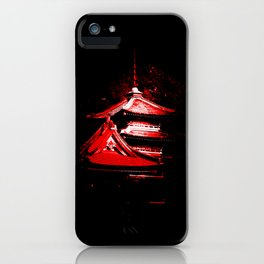 Red Pagoda iPhone Case