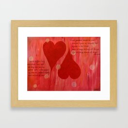 It's all about LOVE Framed Art Print