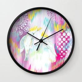 Cockatoos Wall Clock