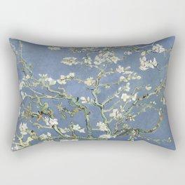 Almond Blossom - Vincent Van Gogh (blue pastel) Rectangular Pillow