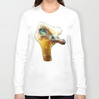 ostrich Long Sleeve T-shirts featuring abstract ostrich by Ancello