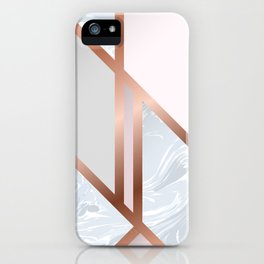 White Pastel Art Deco iPhone Case