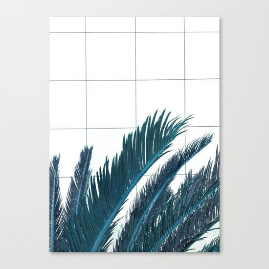 Blue Palms Canvas Print