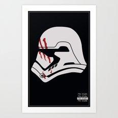 Finn Stormtrooper Profile Art Print