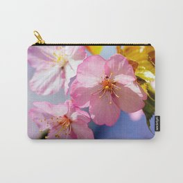 Close-up Vies Of Sakura Cherry Flowers Carry-All Pouch