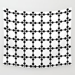 Droplets Pattern - White & Black Wall Tapestry