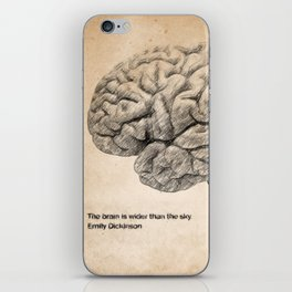 The Brain Is Wider Than The Sky iPhone Skin