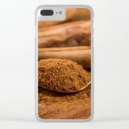 Seasonal Spice Clear iPhone Case