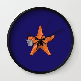 STARving artFISH Wall Clock