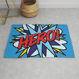 HERO Comic Book Pop Art Modern Fun Retro Rug