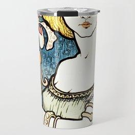 Paul Berthon Salon Des Cent Vintage Art Nouveau Travel Mug