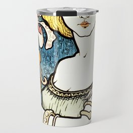 Paul Berthon Salon Des Cent Vintage Art Nouveau Travel Mug