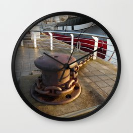 Scottish Photography Series (Vectorized) - Glenlee Ship and Anchor, Glasgow Wall Clock