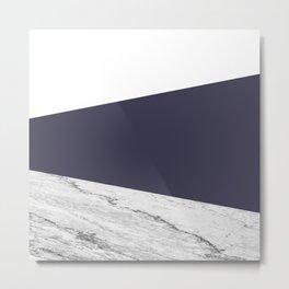 Marble Eclipse blue Geometry Metal Print