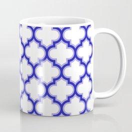 Moroccan Lattice, Oriental Pattern, seamless Morocco Design, blue, white Coffee Mug