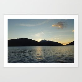 Sunrise at Loch Lomond Art Print