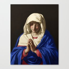 The Virgin in Prayer by Giovanni Sassoferrato (c. 1645) Canvas Print