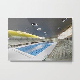 London Aquatics Centre | Zaha Hadid architect Metal Print