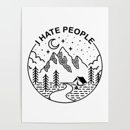 hate people merch Poster