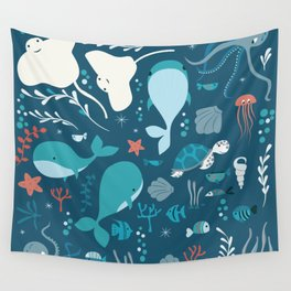 Sea creatures 004 Wall Tapestry