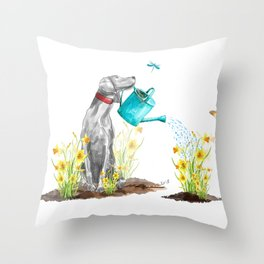 DAFFODILS AND WEIM Throw Pillow