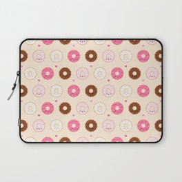 Cute Little Donuts on Cream Laptop Sleeve