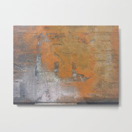 orange abstract Metal Print