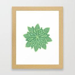 Emerald Flower Framed Art Print