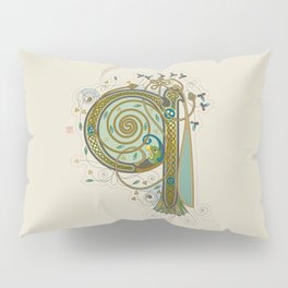 Celtic Initial Q Pillow Sham
